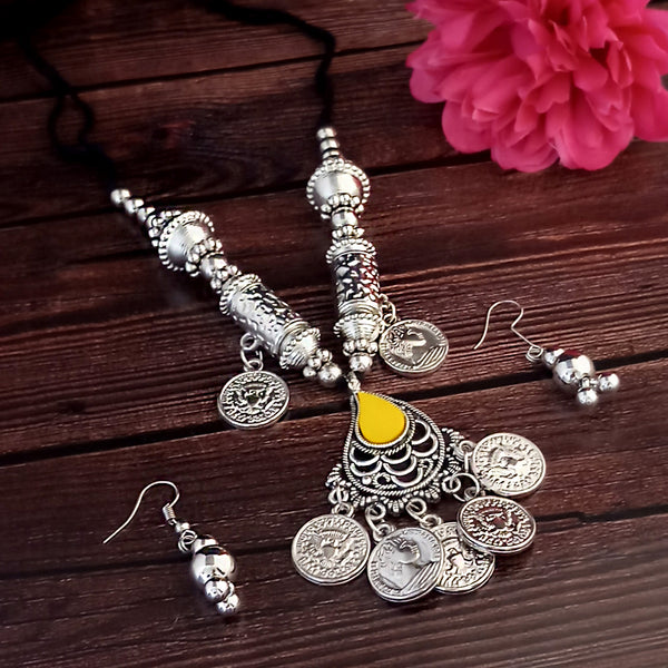 Jeweljunk Oxidised Plated Necklace Set