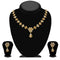 Kriaa Gold Plated Brown Austrian Stone Necklace Set - 1114701A