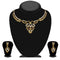 Kriaa Gold Plated Brown Austrian Stone Necklace Set - 1114721A