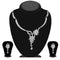 Kriaa Silver Plated White Austrian Stone Necklace Set - 1114722B