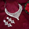 Kriaa Austrian Stone Silver Plated Designer Necklace Set-1114731B