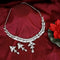 Kriaa Austrian Stone Silver Plated Designer Necklace Set-1114736B