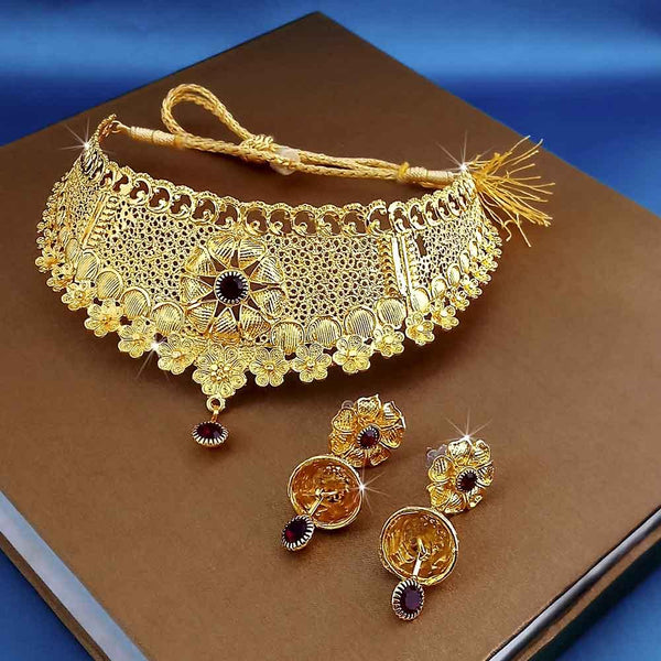 Kalyani Forming Gold Plated Traditional Designer Necklace & Earring Set -1115001