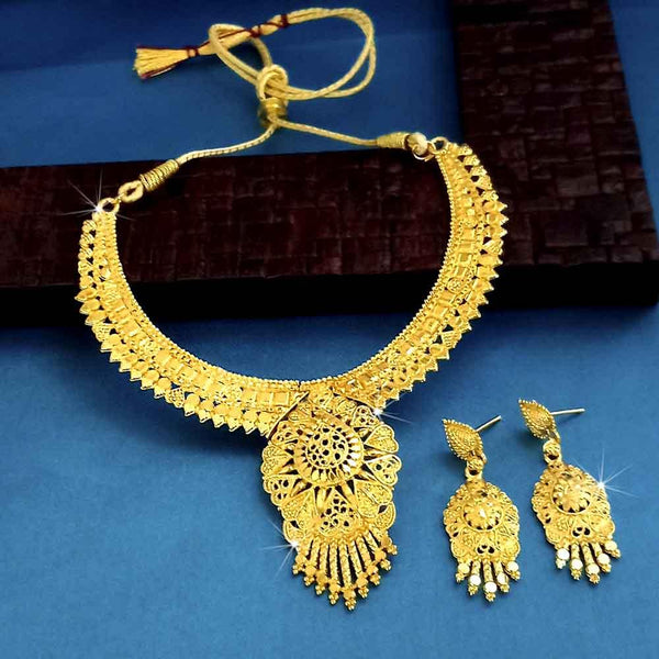 Kalyani Forming Gold Plated Traditional Designer Necklace & Earring Set -1115020
