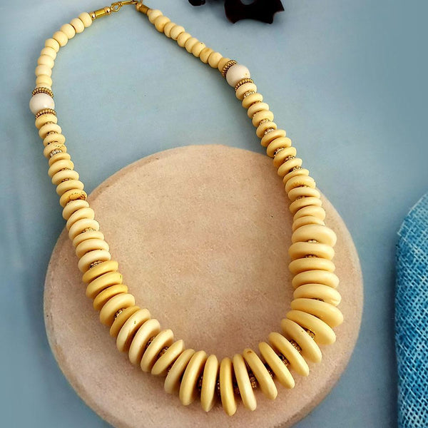 Native Haat Cream Beads Stylish Necklace