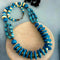Native Haat Blue Round Beads Necklace