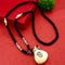 Native Haat Dollar Pouch Necklace Black Beads Necklace