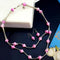 Native Haat Silver Plated Pink Beads Necklace Set