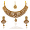 JD Arts Gold Plated Austrian Stone Choker Necklace Set With Maangtikka