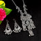 Sanjana Jewellers Oxidised Necklace Set