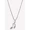 Urthn Musical Note Shape Silver Plated Chain Pendant