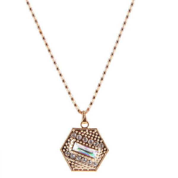Urthn Austrian Stone Gold Plated Chain Pendant