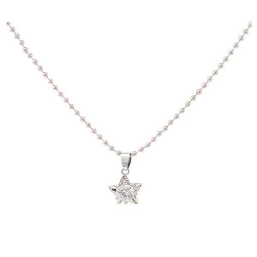 The99jewel  Austrian Stone  Silver Plated Star Shape Chain Pendant - 1200946 - FS
