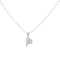 Kriaa Heart Shaped Austrian Stone Chain Pendant