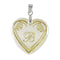 "Regina Alphabet B"" Heart Shaped Shell Pendant"