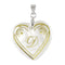 "Regina Alphabet D"" Heart Shaped Shell Pendant"