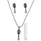 14Fashion Austrian Stone Pearl Drop Silver Plated Pendant Set