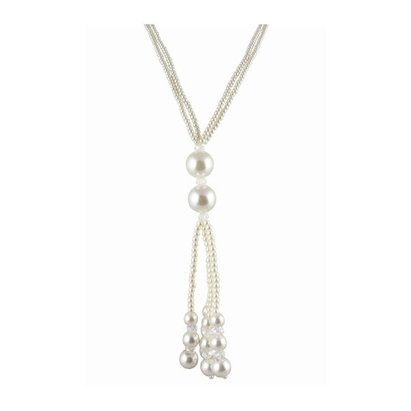 The99Jewel White Pearl Necklace