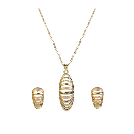 Kriaa Gold Plated Pendant Set