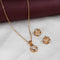 Kriaa Gold Plated Pendant Set - 1201709