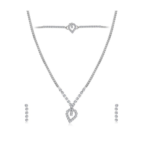 Eugenia Austrian Stone Silver Plated Necklaces Set