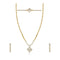 Eugenia Stone Gold Plated Necklaces Set With Bracelet
