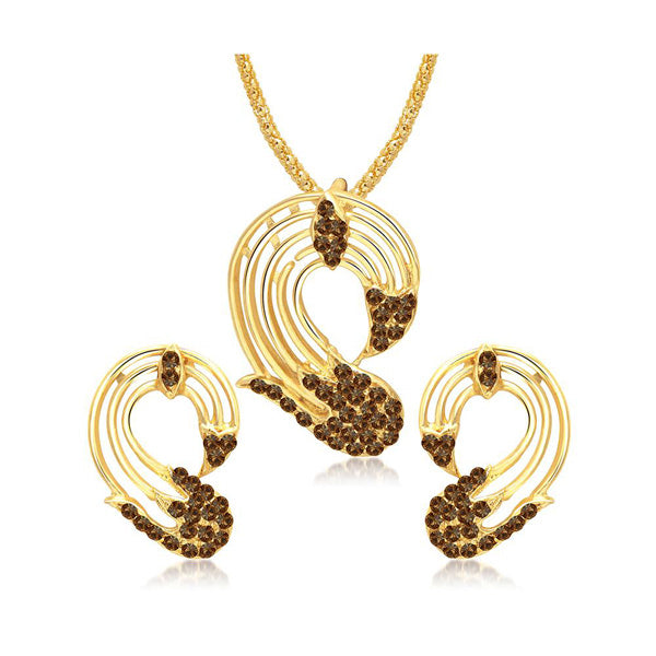 The99Jewel Gold Plated Austrian Stone Pendant Set