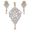 Morini Gold Plated AD Stone Pendant Set