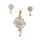 Morini AD Stone Gold Plated Pendant Set