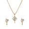 Morini AD Stone Gold Plated Chain Pendant Set