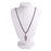 Urthn Zinc Alloy Rhodium Plated Chain Pendant - 1202235 - AS