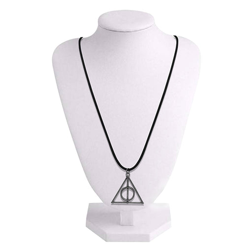 Urthn Rhodium Plated Triangle Design Chain Pendant