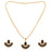 Kriaa Black Austrian Stone Gold Plated Pendant Set