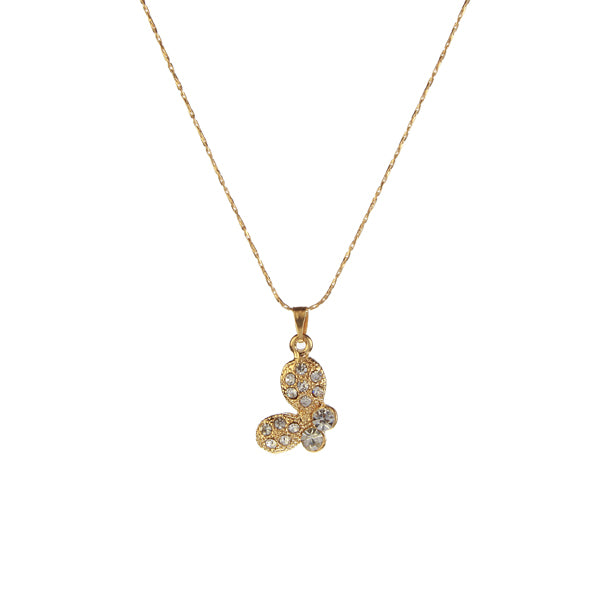 Kriaa Austrian Stone Gold Plated Chain Pendant