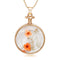 Urthn Orange Floral Gold Plated Chain Pendant