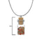 Urthn Multi Stone Silver Plated Glass Chain Pendant
