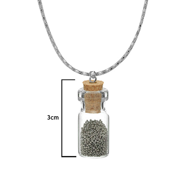 Urthn Silver Beads Silver Plated Glass Chain Pendant