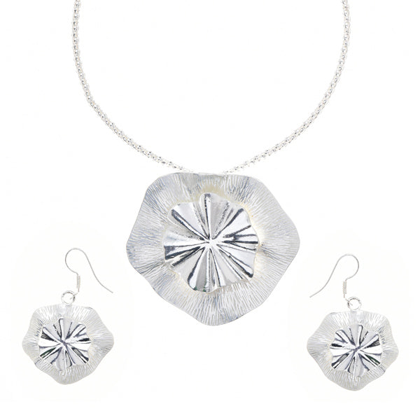 Urthn Silver Plated Pendant Set