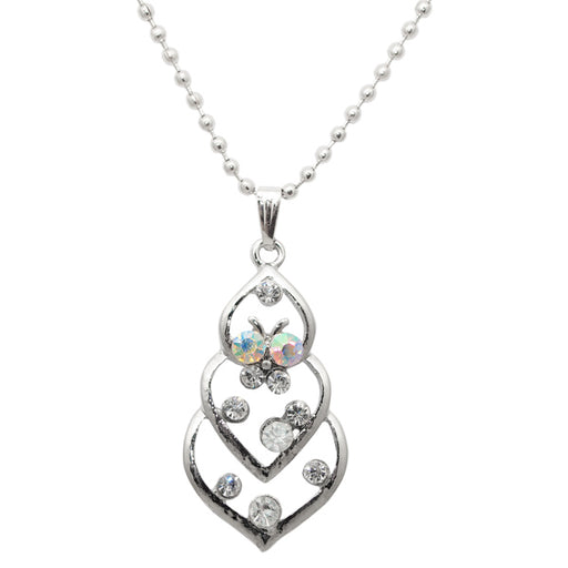 Regina Austrian Stone Heart Shaped Chain Pendant