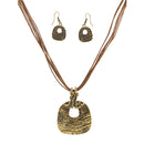 Urthn Gold Plated Pendant Set