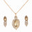 Kriaa Brown Austrian Stone Gold Plated Chain Pendant