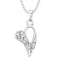 Regina Silver Plated Austrian Stone Heart Chain Pendant  - 1203124A - AS