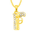 Kriaa Gun Design Gold Plated Chain Pendant