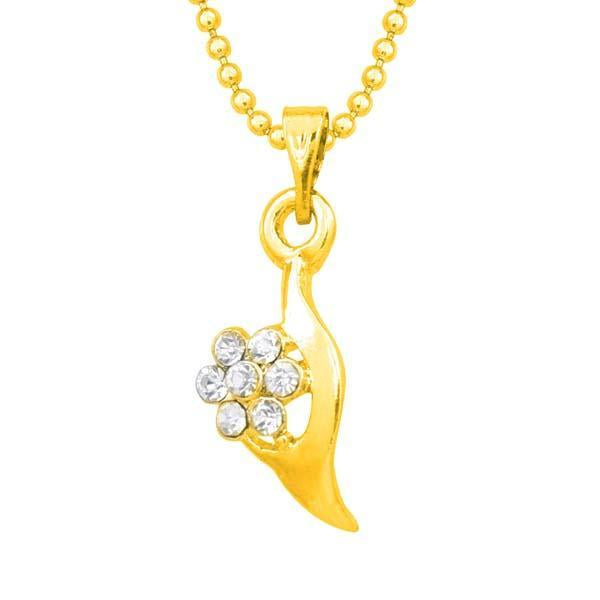Regina Austrian Stone Gold Plated Chain Pendant  - 1203142B - AS