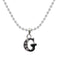 "Regina Rhodium Plated "" G "" Alphabet Chain Pendant - 1203167 - AS"
