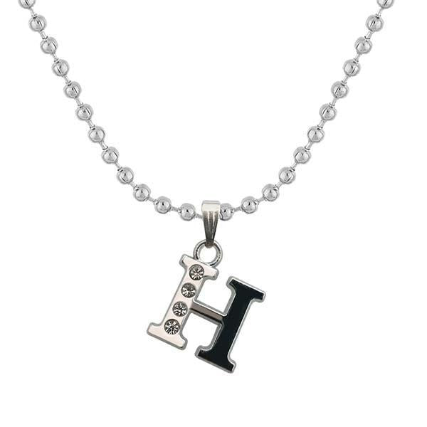 "Regina Rhodium Plated "" H "" Alphabet Chain Pendant  - 1203168 - AS"