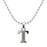 "Regina Rhodium Plated "" T "" Alphabet Chain Pendant"