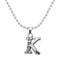 "Regina Rhodium Plated "" K "" Alphabet Chain Pendant  - 1203176 - AS"