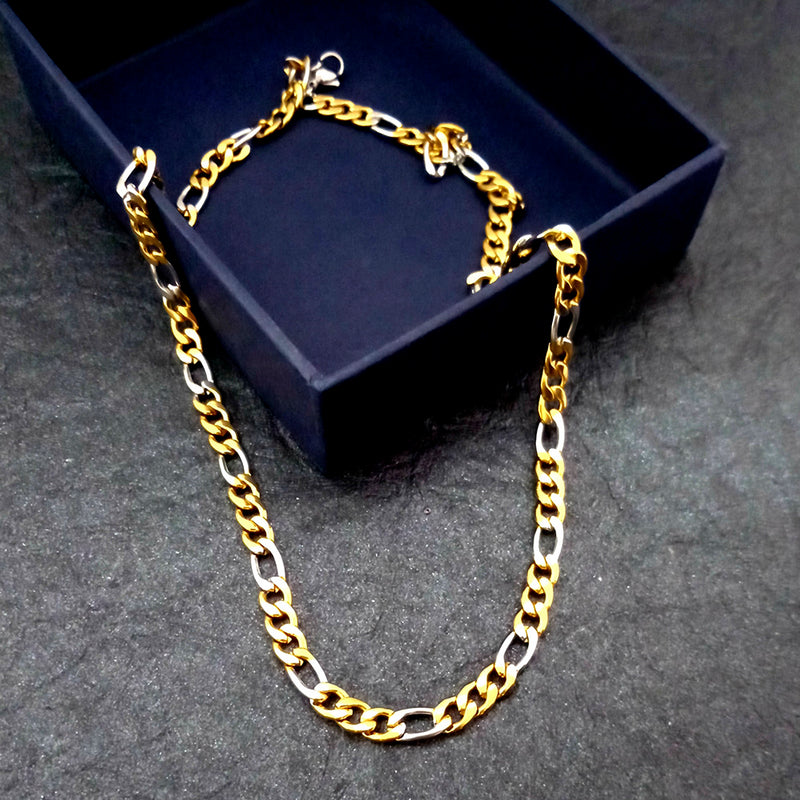 Urbana 2 Tone Plated Mens Necklace Chain