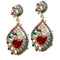 Kriaa Kundan Gold Plated Stone Gold Plated Dangler Earrings